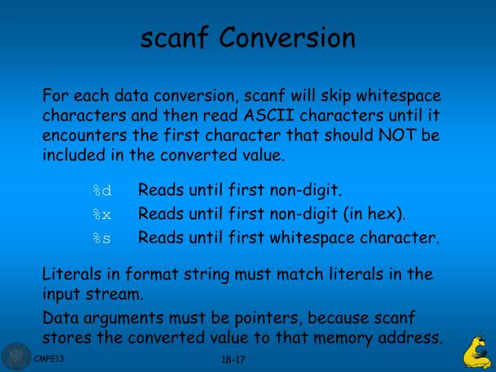 scanf Conversion