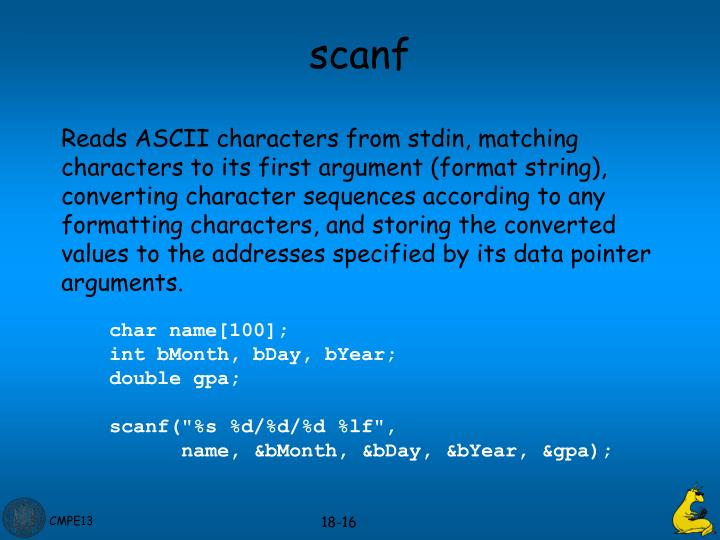 scanf
