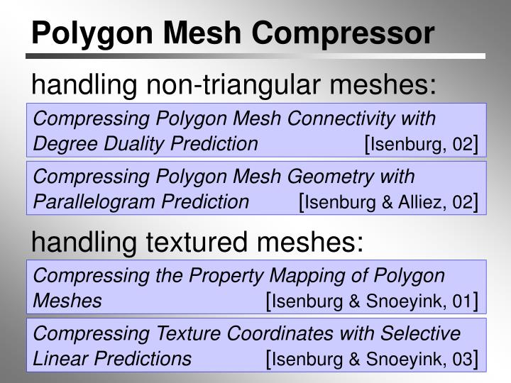 Compressing Polygon Mesh Connectivity with