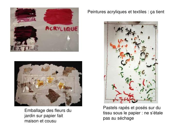 Peintures acryliques et textiles : ça tient