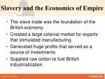 slavery and the economics of empire1