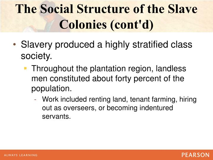 The Social Structure of the Slave Colonies (cont'd)