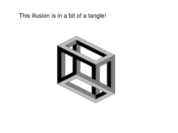 This illusion is in a bit of a tangle!