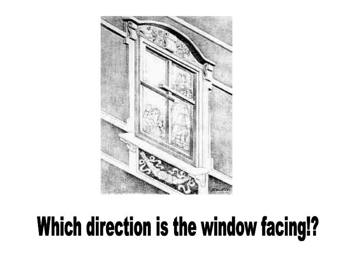 Which direction is the window facing!?