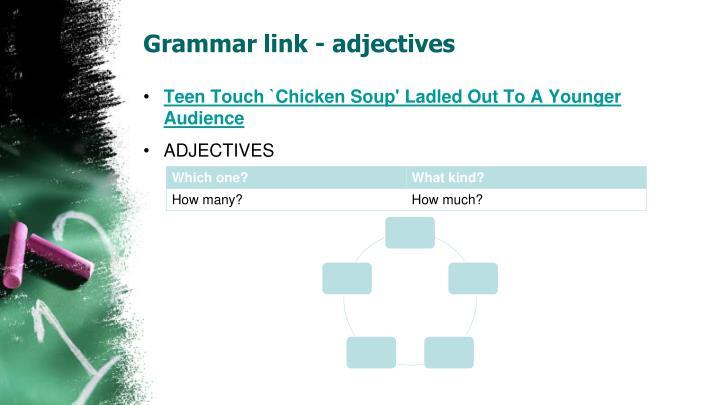 Grammar link - adjectives