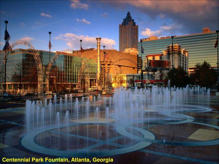 Centennial Park Fountain, Atlanta, Georgia
