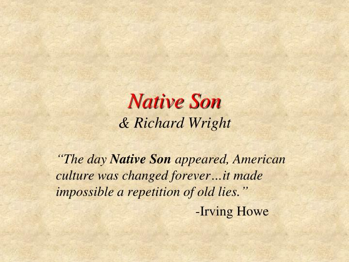 Native son richard wright