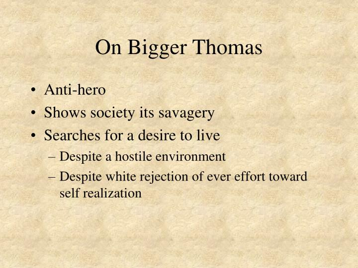 On Bigger Thomas