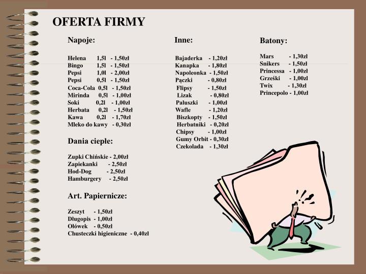 OFERTA FIRMY