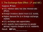 3 the exchange rate effect p and nx