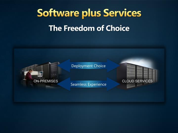 Software plus Services