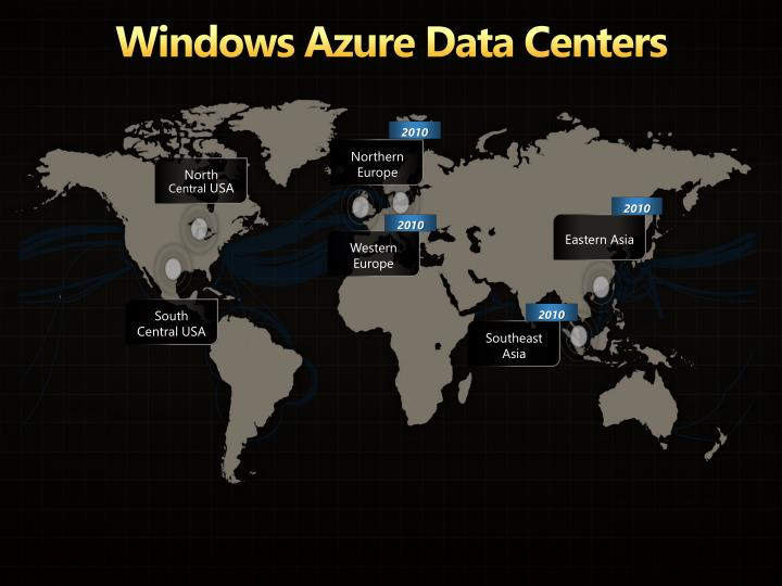Windows Azure Data Centers
