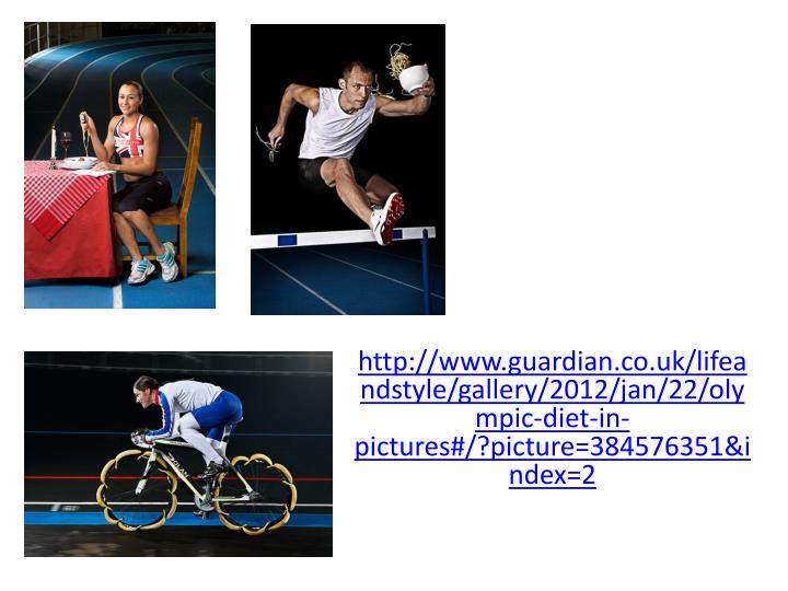 http://www.guardian.co.uk/lifeandstyle/gallery/2012/jan/22/olympic-diet-in-pictures#/?
