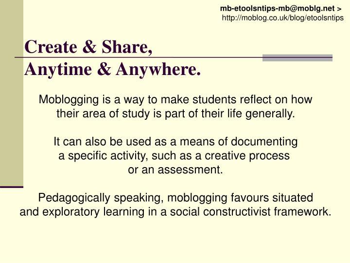 Create & Share,