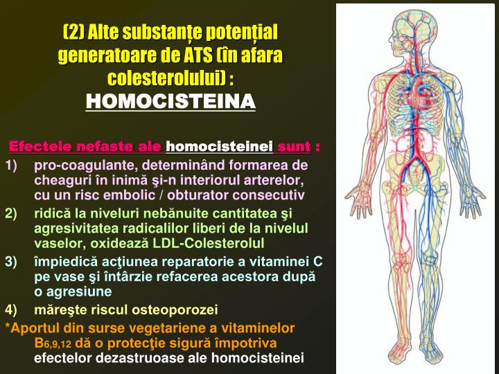 (2) Alte substanţe potenţial generatoare de ATS (în afara colesterolului) :