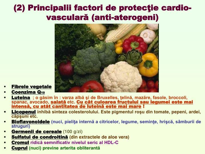 (2) Principalii factori