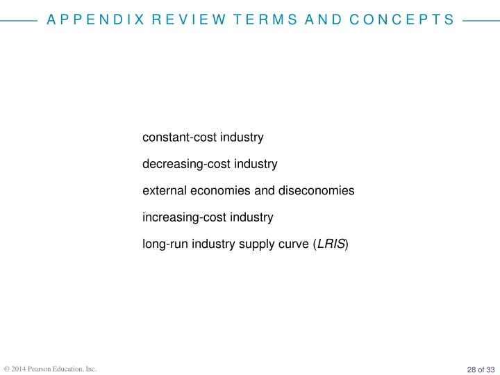 constant-cost industry