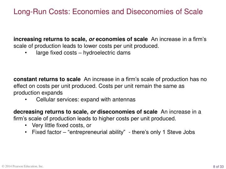 Long-Run Costs: Economies and Diseconomies of Scale