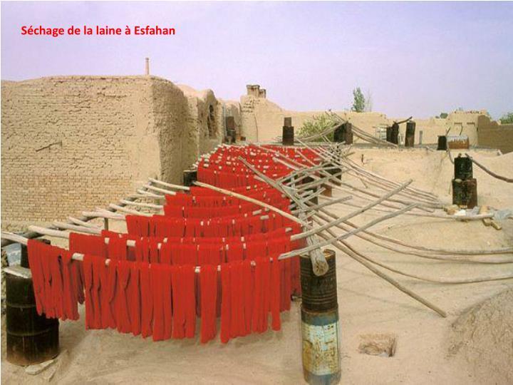 Séchage de la laine à Esfahan