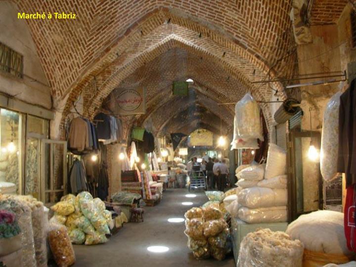 Marché à Tabriz