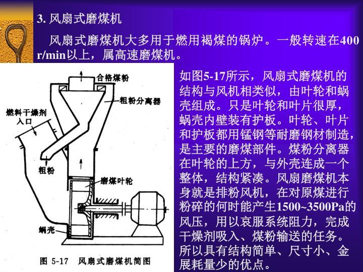 3. 风扇式磨煤机