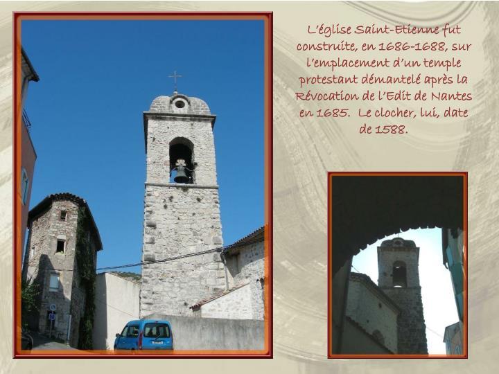 L'église Saint-Etienne fut