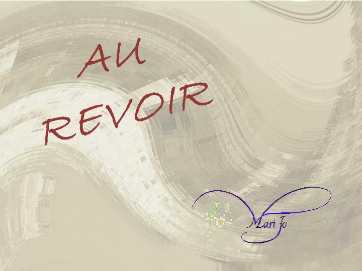 AU  REVOIR