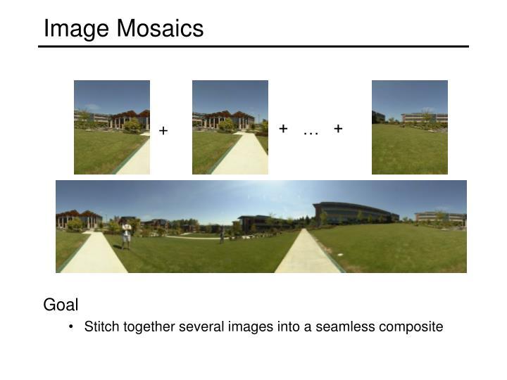 Image Mosaics