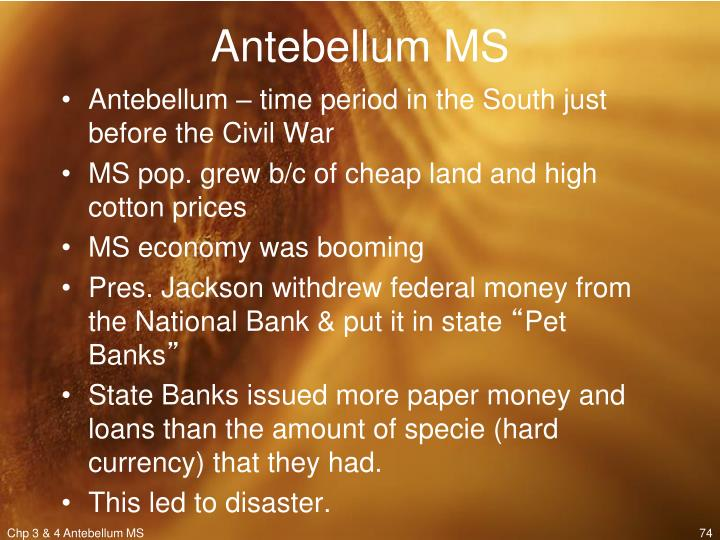 Antebellum MS