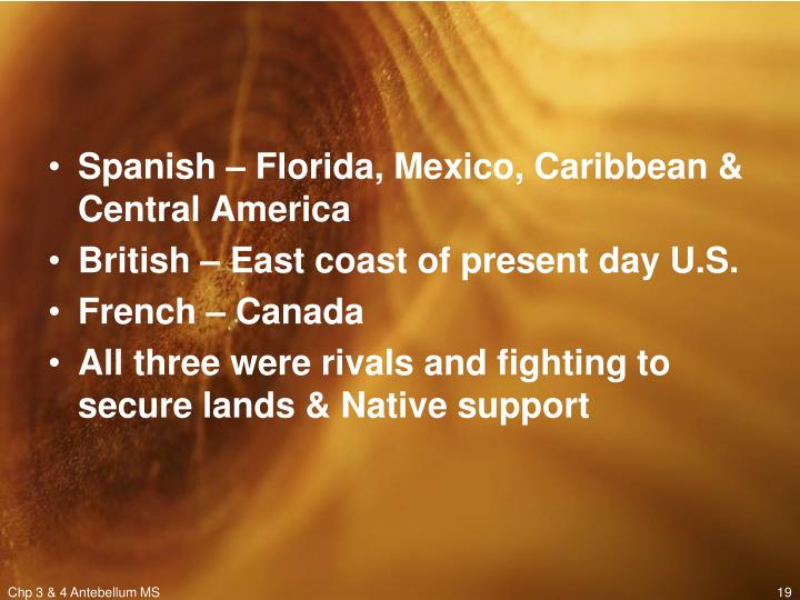 European Settlements in North America