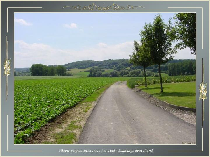 Mooie vergezichten , van het zuid - Limburgs heuvelland