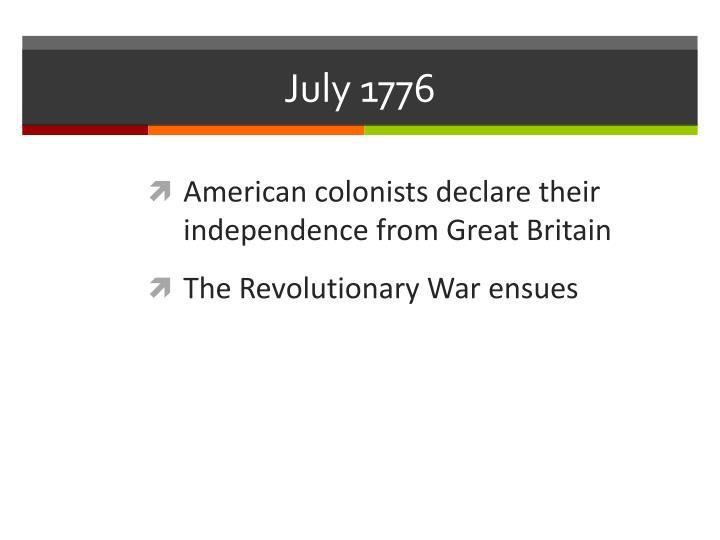 July 1776