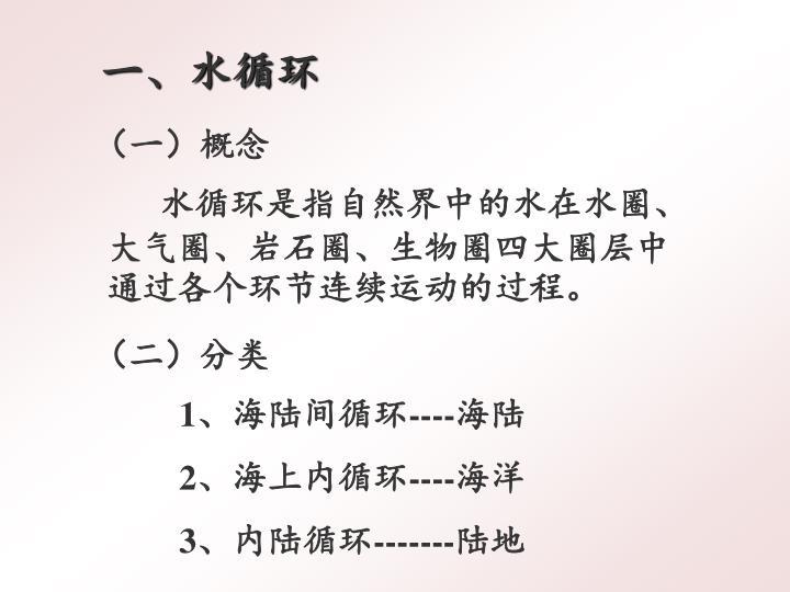 (一)概念