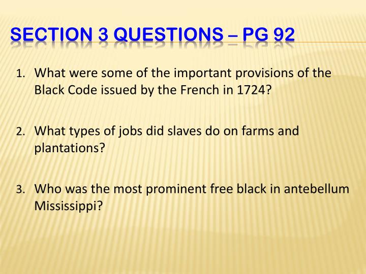 What were some of the important provisions of the Black Code issued by the French in 1724?