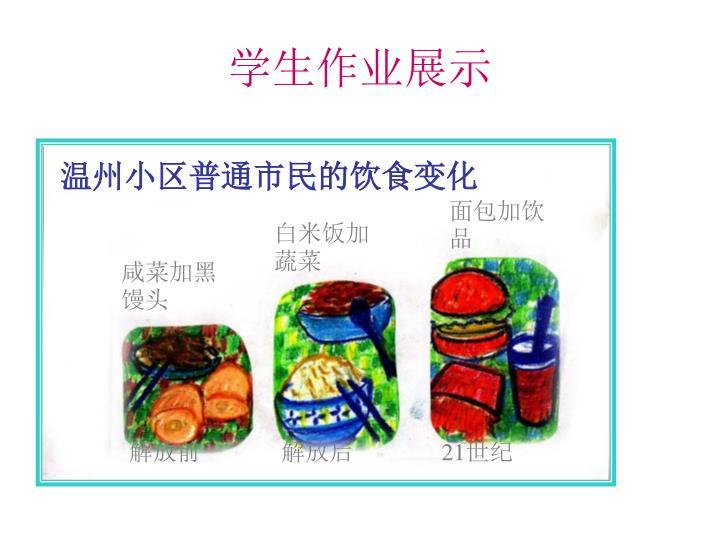 温州小区普通市民的饮食变化