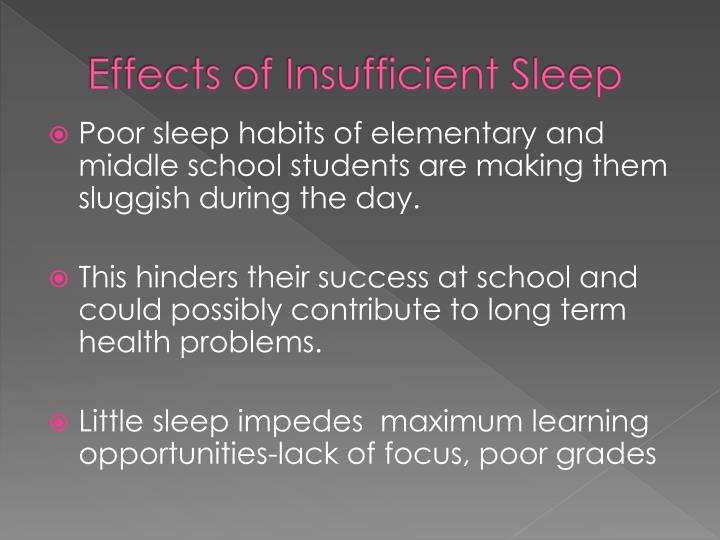 Effects of Insufficient Sleep