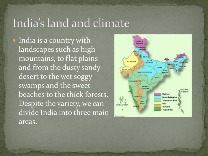India's land and climate