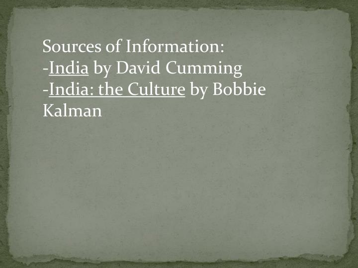Sources of Information: