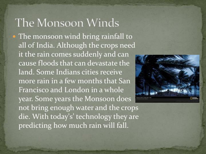 The Monsoon Winds