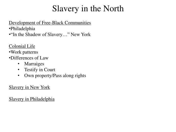 Development of Free-Black Communities