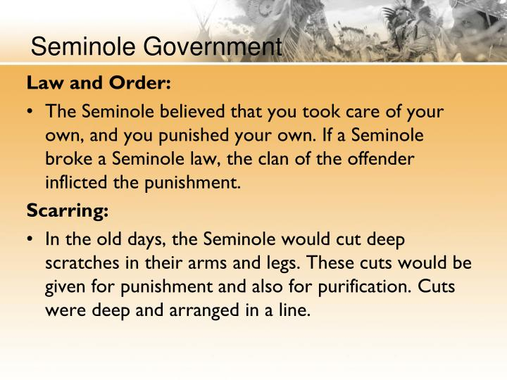 Seminole Government