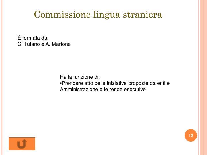 Commissione lingua straniera