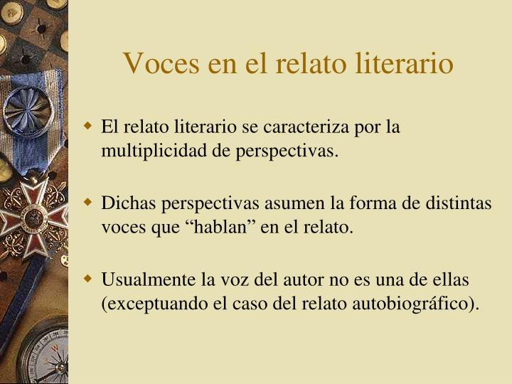 Voces en el relato literario