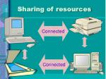 sharing of resources1