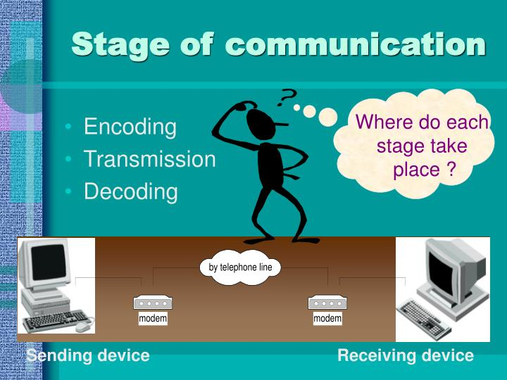 Stage of communication