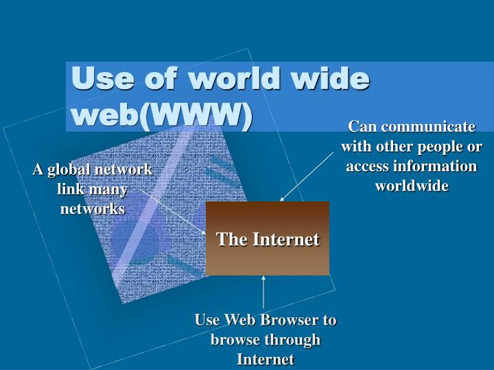 Can communicate with other people or access information worldwide