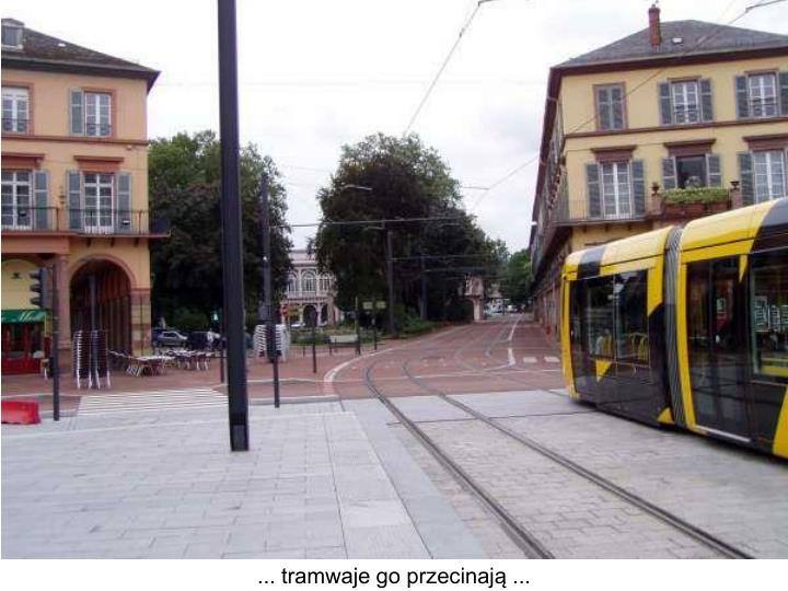 ... tramwaje go przecinają ...