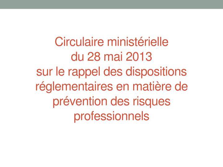 Circulaire ministérielle
