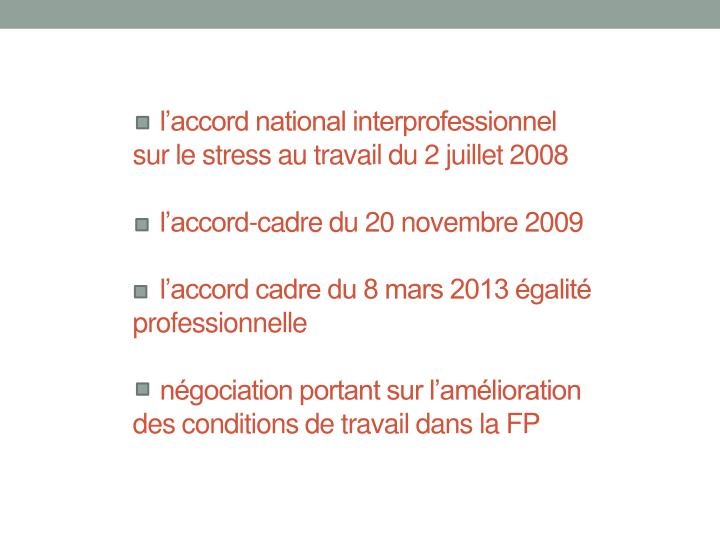 l'accord national interprofessionnel