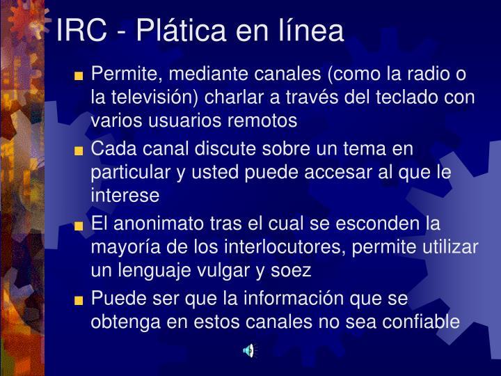 IRC - Plática en línea
